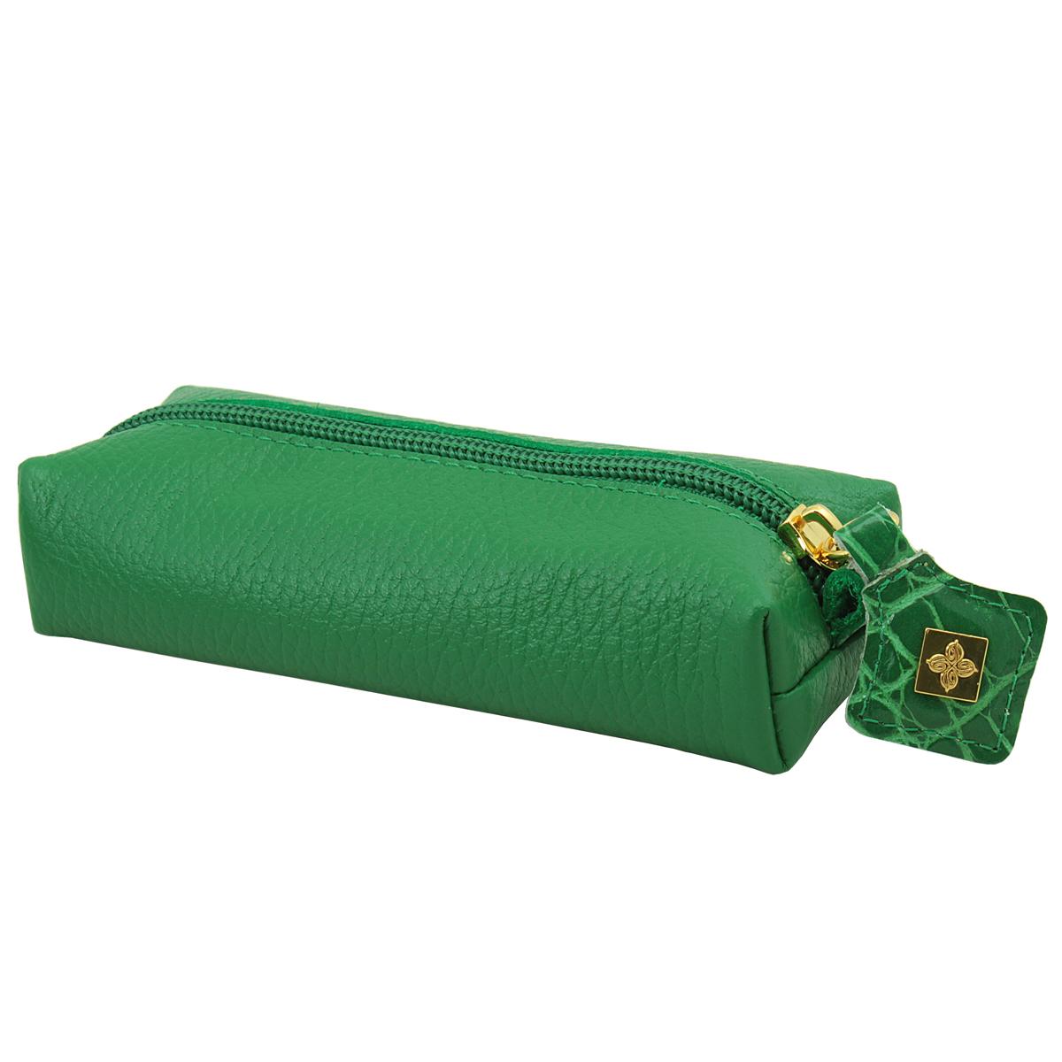 Ключница Dimanche Казино, цвет: зеленый. 989989Компактная ключница Казино - стильная вещь для хранения ключей. Ключница выполнена из натуральной кожи. Состоит из одного отделения, закрывающегося на застежку-молнию. Внутри ключницы на кожаной петле крепится металлическое кольцо для ключей. Характеристики: Цвет: зеленый. Материал: натуральная кожа, металл. Размер: 14,5 см x 5,5 см x 3,5 см. Изготовитель: Россия. Артикул: 989