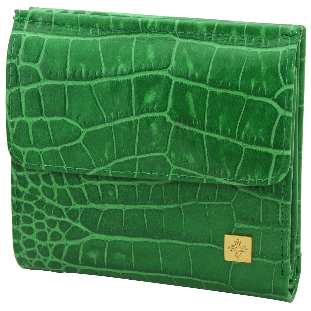 Кошелек женский Dimanche Казино, цвет: зеленый. 983983Женский компактный кошелек Казино выполнен из натуральной высококачественной кожи с декоративным тиснением под крокодила. Снаружи - объемный карман для мелочи, закрывается на кнопку. Внутри располагаются один карман для купюр с потайным отделением на молнии и карман для бумаг и небольших документов, также имеются два отделения для кредиток, кармашек для sim-карты, два смежных вертикальных кармана для небольших бумаг и карман с прозрачной стенкой. Кошелек упакован в фирменную картонную коробку. Характеристики: Материал: натуральная кожа, текстиль, металл. Размер кошелька: 10 см х 10 см х 3 см. Цвет: зеленый.