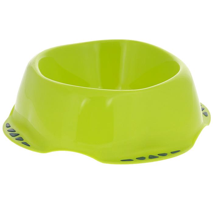 Миска для животных MPS Maya L, цвет: салатовый, 1 лS10010400Миска MPS Maya выполнена из высококачественного пластика. Материал нетоксичный и не впитывает посторонние запахи, поэтому миска одинаково хорошо подойдёт как для корма, так и для питьевой воды. Снизу миски также предусмотрены прорезиненные подкладки, препятствующие её скольжению. Благодаря яркому и стильному дизайну миска отлично впишется в интерьер помещения. Подходит для кошек, собак, хорьков, кроликов, морских свинок. Диаметр (по верхнему краю): 17 см. Высота: 8 см. Объём: 1 л. Вес: 177 г. Товар сертифицирован.