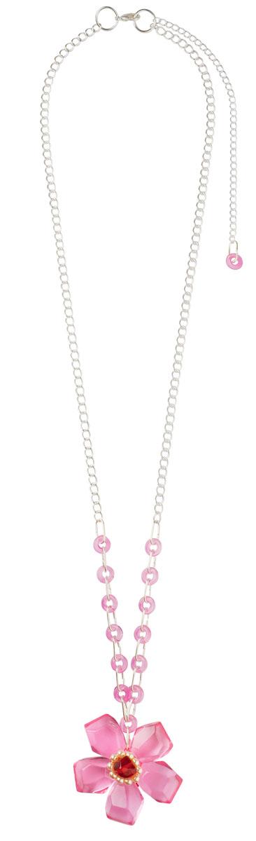 Колье Lalo Treasures, цвет: розовый, серебристый. P4469P4469Оригинальное колье Lalo Treasures представляет собой цепочку из металла серебристого цвета и кулон в виде цветочка, выполненный из ювелирной смолы и декорированный бусинами. Колье имеет надежную застежку-карабин с регулирующей длину цепочкой. Колье Lalo Treasures не только привлечет внимание окружающих, но и дополнит ваш образ и поможет создать свой неповторимый стиль. Украшение упаковано в текстильный мешочек.