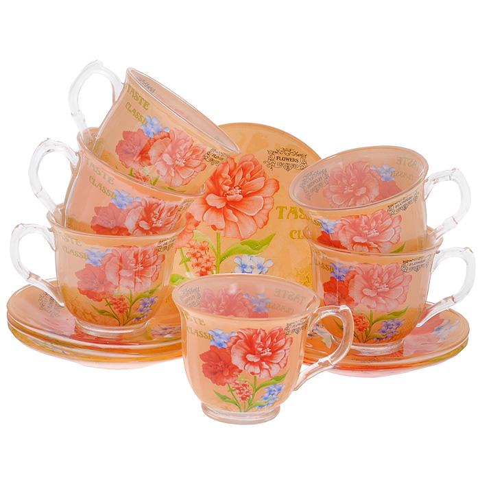 Набор чайный Bekker, 12 предметов. BK-5843BK-5843Чайный набор Bekker состоит из 6 чашек и 6 блюдец. Предметы набора выполнены из стекла оранжевого цвета и украшены изображением цветов. Яркий дизайн, несомненно, придется вам по вкусу. Чайный набор Bekker Koch украсит ваш кухонный стол, а также станет замечательным подарком к любому празднику. Набор упакован в подарочную коробку в виде сердца, внутренняя часть коробки задрапирована белым атласным материалом. Не применять абразивные чистящие средства. Не использовать в микроволновой печи. Мыть с применением нейтральных моющих средств. Можно мыть в посудомоечных машинах. Характеристики: Материал: стекло. Цвет: оранжевый. Диаметр чашки по верхнему краю: 9 см. Высота чашки: 7,5 см. Объем чашки: 220 мл. Диаметр блюдца: 13,8 см.