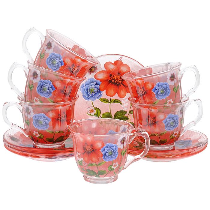 Набор чайный Bekker, 12 предметов. BK-5839BK-5839Чайный набор Bekker состоит из 6 чашек и 6 блюдец. Предметы набора выполнены из стекла красного цвета и украшены изображением цветов. Яркий дизайн, несомненно, придется вам по вкусу. Чайный набор Bekker Koch украсит ваш кухонный стол, а также станет замечательным подарком к любому празднику. Набор упакован в подарочную коробку в виде сердца, внутренняя часть коробки задрапирована белым атласным материалом. Не применять абразивные чистящие средства. Не использовать в микроволновой печи. Мыть с применением нейтральных моющих средств. Можно мыть в посудомоечных машинах.