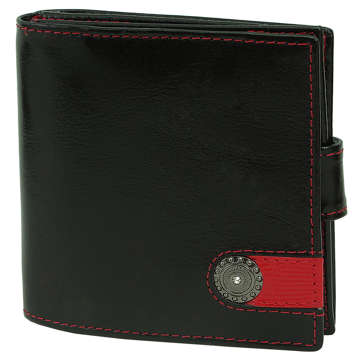 Кошелек женский Dimanche Panthere Noire, цвет: черный. 204204Женский компактный кошелек Panthere Noire выполнен из натуральной высококачественной кожи. Кошелек состоит из двух отделений. Первое отделение закрывается на магнитную кнопку, имеет четыре кармашка для кредиток и карман для монет с клапаном на кнопке. Второе отделение содержит закрывается на клапан с магнитной кнопкой и содержит два кармана для купюр. Между отделениями также предусмотрен кармашек. Кошелек упакован в фирменную картонную коробку.