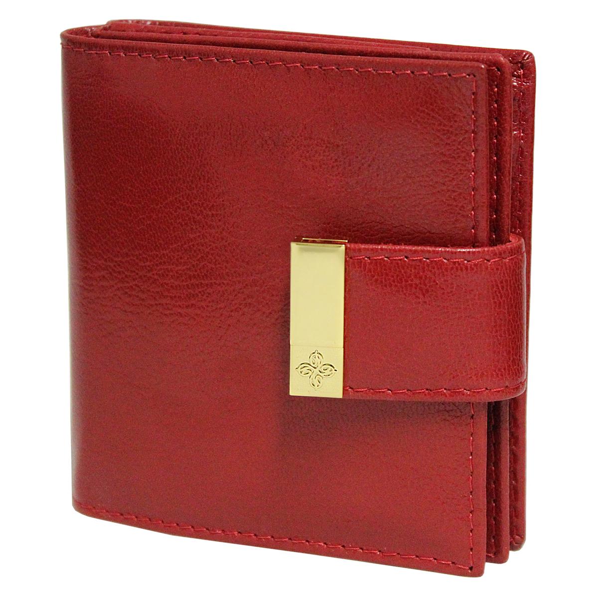 Кошелек женский Dimanche Elite, цвет: красный. 242242Женский компактный кошелек Elite выполнен из натуральной высококачественной кожи с декоративным тиснением. Кошелек состоит из двух отделений. Первое отделение закрывается на магнитную кнопку, имеет четыре кармашка для кредиток и карман для монет с клапаном на кнопке. Второе отделение также закрывается на магнитную кнопку и содержит два кармана для купюр. Между отделениями также предусмотрен кармашек. Кошелек упакован в фирменную картонную коробку.