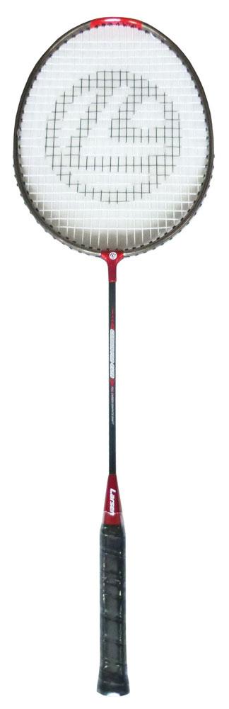 Ракетка для бадминтона Larsen 417B, цвет: черный, красный261498,4690222084344Ракетка бадминтонная Larsen 417B, длинной 665 мм, состоит из алюминиевого обода и графитового стержня. Баланс ракетки 275 - 280 мм. Рекомендуемое натяжение производителем составляет 18-20 lbs/8-9 кг. Ракетка бадминтонная Larsen 417B рассчитана на игроков начального уровня.