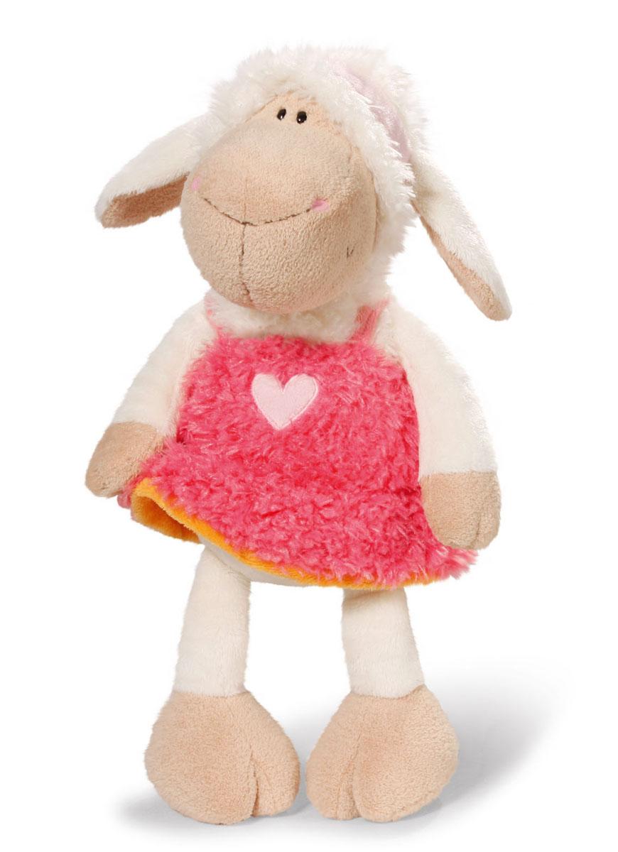 Мягкая игрушка Nici Овечка Фрэнсис, сидячая, 25 см36329Мягкая игрушка Nici Овечка Фрэнсис выполнена в виде симпатичной овечки. Удивительно мягкая игрушка изготовлена из высококачественного текстильного материала с набивкой из синтепона и пластиковых гранул. Глазки у овечки пластиковые, на нее надет розовый сарафан с аппликацией в виде сердечка. Игрушку можно посадить на ровную поверхность. Оригинальный стиль и великолепное качество исполнения делают эту игрушку чудесным подарком к любому празднику. Немецкая компания Nici является одним из лидеров на Европейском рынке мягких игрушек и подарков. Продукцию компании можно встретить везде: это и значок на школьном рюкзаке, и магнит на холодильнике, и поздравительная открытка, и мягкая игрушка, и автомобильный талисман. Игрушки Nici - это товары высочайшего качества и инновационного дизайна. Для создания всего одной игрушки работает большое количество людей и используется самое современное оборудование и технологии. И делается все это для того, чтобы добиться счастливых...