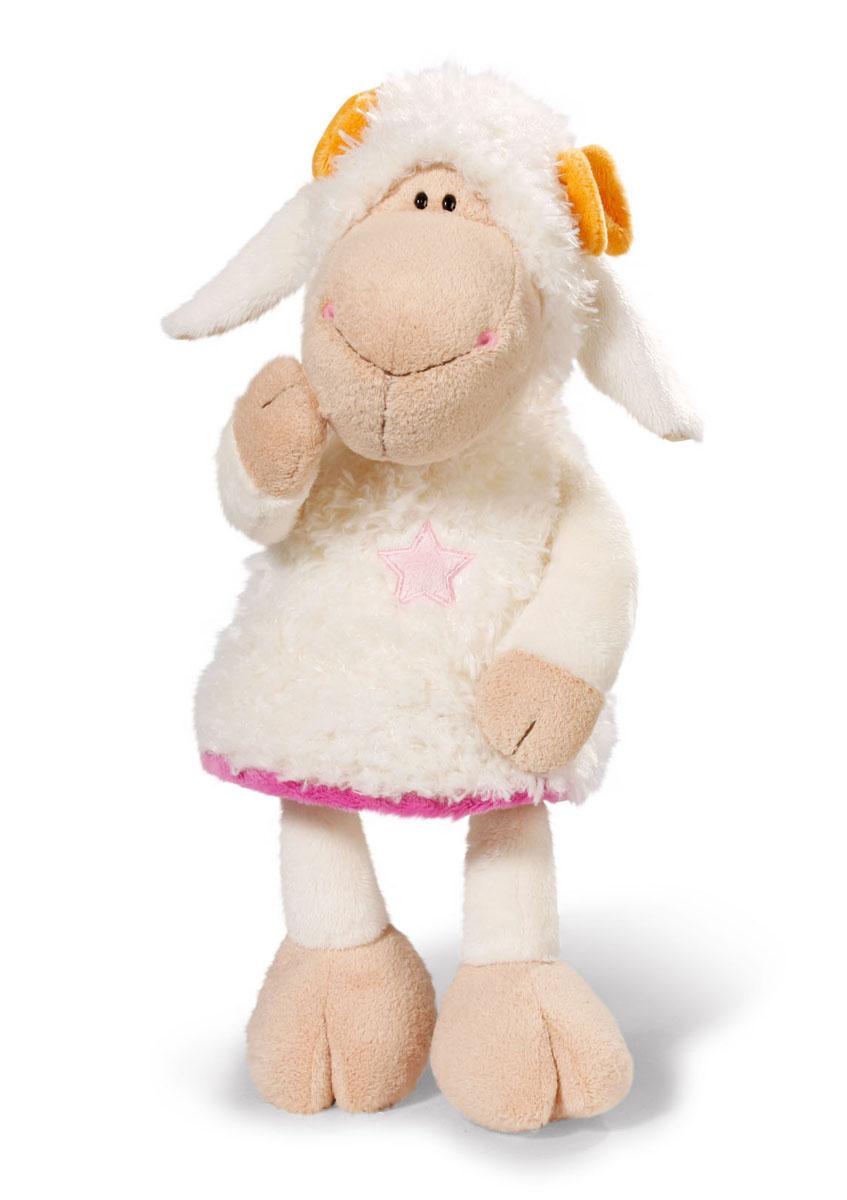 Мягкая игрушка Nici Овечка Эми, сидячая, 35 см36330Мягкая игрушка Nici Овечка Эми выполнена в виде симпатичной овечки. Удивительно мягкая игрушка изготовлена из высококачественного текстильного материала с набивкой из синтепона и пластиковых гранул. Глазки у овечки пластиковые, на ней надет белый сарафан с аппликацией в виде звездочки, на голове - два желтых бантика. Игрушку можно посадить на ровную поверхность. Оригинальный стиль и великолепное качество исполнения делают эту игрушку чудесным подарком к любому празднику. Немецкая компания Nici является одним из лидеров на Европейском рынке мягких игрушек и подарков. Продукцию компании можно встретить везде: это и значок на школьном рюкзаке, и магнит на холодильнике, и поздравительная открытка, и мягкая игрушка, и автомобильный талисман. Игрушки Nici - это товары высочайшего качества и инновационного дизайна. Для создания всего одной игрушки работает большое количество людей и используется самое современное оборудование и технологии. И делается все это для того,...