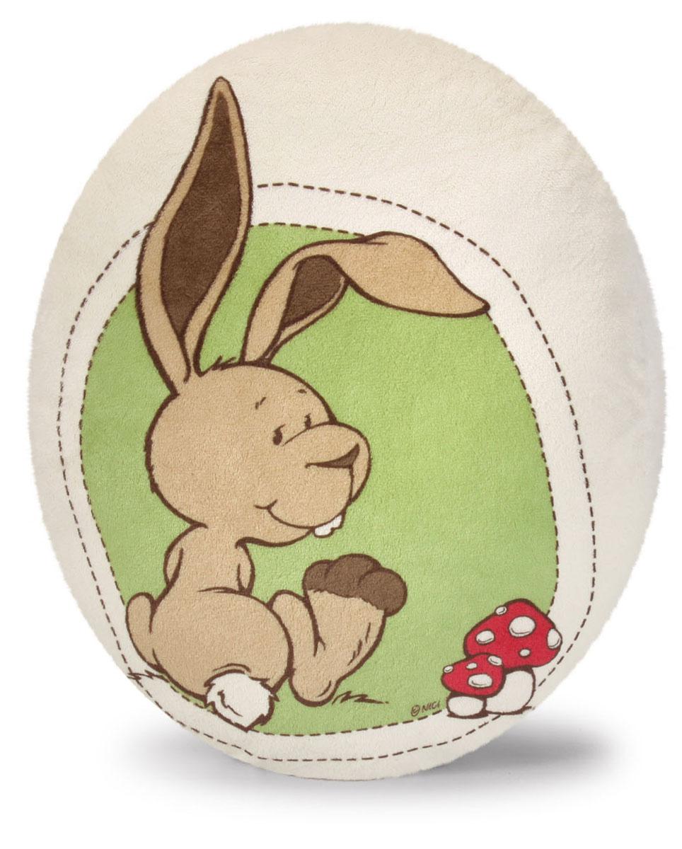Мягкая игрушка-подушка Nici Кролик Ральф, овальная, 28 см х 34 см36519Мягкая игрушка-подушка Nici Кролик Ральф не оставит равнодушным вашего ребенка. Мягкая и приятная на ощупь подушка овальной формы выполнена из мягкого плюша с набивкой из синтепона и оформлена изображением кролика. Подушка удивительно приятна на ощупь. Необычайно мягкая, она принесет радость и подарит своему обладателю мгновения нежных объятий и приятных воспоминаний. Такая игрушка-подушка станет отличным аксессуаром для детской комнаты.