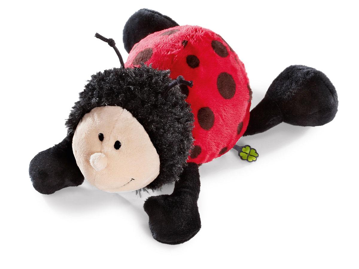 Мягкая игрушка Nici Божья коровка, лежачая, 30 см36875Мягкая игрушка Nici Божья коровка выполнена в виде симпатичной божьей коровки. Удивительно мягкая игрушка изготовлена из высококачественного текстильного материала черного, красного и бежевого цветов с набивкой из синтепона и пластиковых гранул. Глазки у божьей коровки пластиковые, также у нее есть небольшие рожки на голове. Игрушку можно положить на животик на ровную поверхность. Оригинальный стиль и великолепное качество исполнения делают эту игрушку чудесным подарком к любому празднику. Немецкая компания Nici является одним из лидеров на Европейском рынке мягких игрушек и подарков. Продукцию компании можно встретить везде: это и значок на школьном рюкзаке, и магнит на холодильнике, и поздравительная открытка, и мягкая игрушка, и автомобильный талисман. Игрушки Nici - это товары высочайшего качества и инновационного дизайна. Для создания всего одной игрушки работает большое количество людей и используется самое современное оборудование и технологии. И...