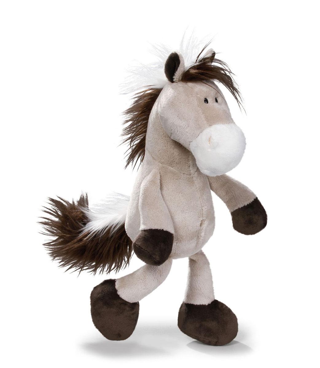 Мягкая игрушка Nici Лошадь, сидячая, цвет: серо-бежевый, 25 см36895Мягкая игрушка Nici Лошадь выполнена в виде симпатичной лошадки. Удивительно мягкая игрушка изготовлена из высококачественного текстильного материала с набивкой из синтепона и пластиковых гранул. Глазки у лошадки пластиковые. Игрушку можно посадить на ровную поверхность. Оригинальный стиль и великолепное качество исполнения делают эту игрушку чудесным подарком к любому празднику. Немецкая компания Nici является одним из лидеров на Европейском рынке мягких игрушек и подарков. Продукцию компании можно встретить везде: это и значок на школьном рюкзаке, и магнит на холодильнике, и поздравительная открытка, и мягкая игрушка, и автомобильный талисман. Игрушки Nici - это товары высочайшего качества и инновационного дизайна. Для создания всего одной игрушки работает большое количество людей и используется самое современное оборудование и технологии. И делается все это для того, чтобы добиться счастливых улыбок покупателей.