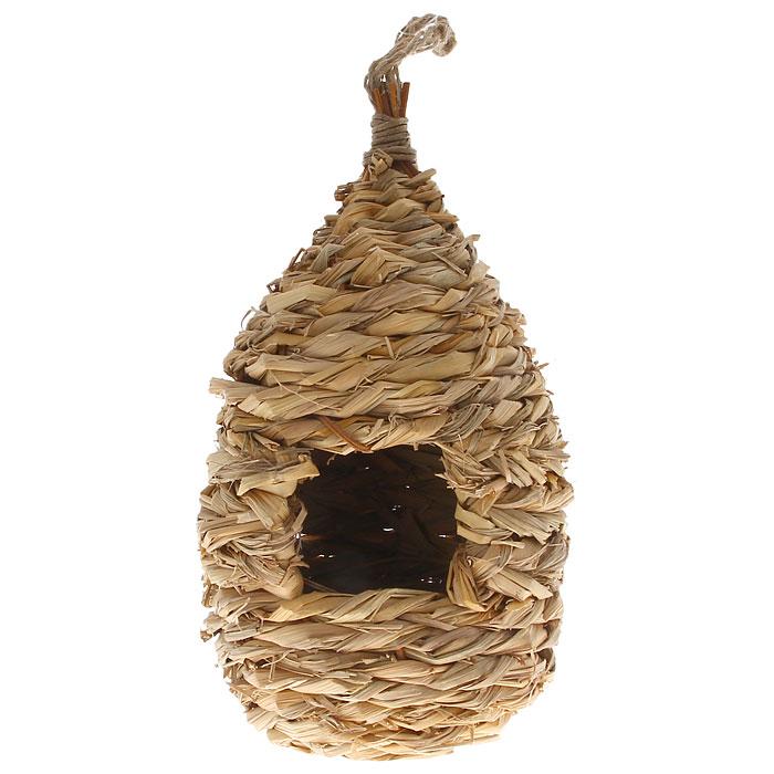 Домик для птиц Gardman, зимний, 24 смA02035Зимний домик для птиц Gardman сплетен из соломы. В домике есть небольшое отверстие. Для удобного подвешивания предусмотрена петелька из бечевки. Характеристики: Материал: солома.