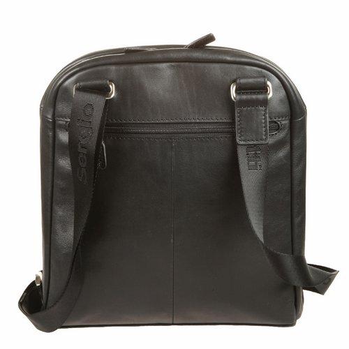 Сумка-планшет мужская Sergio Belotti, цвет: черный. 93049304 west blackСумка-планшет Sergio Belotti выполнена из натуральной кожи. Планшет имеет одно вместительное отделение, закрывающееся на застежку-молнию. Внутри - три кармана на молниях. На лицевой стороне расположено два вшитых кармана на молнии, один из которых содержит внутри четыре наборных кармашка для кредиток, карман для мобильного телефона и два фиксатора для ручек. На задней стенке - дополнительный карман на молнии. Планшет имеет плечевой ремень регулируемой длины. К планшету прилагается чехол для хранения. Этот стильный аксессуар станет изысканным дополнением к вашему образу. Характеристики: Материал: натуральная кожа, текстиль, металл. Цвет: черный. Размер сумки: 28 см х 5 см х 26 см. Размер упаковки: 31 см х 32 см х 11 см.
