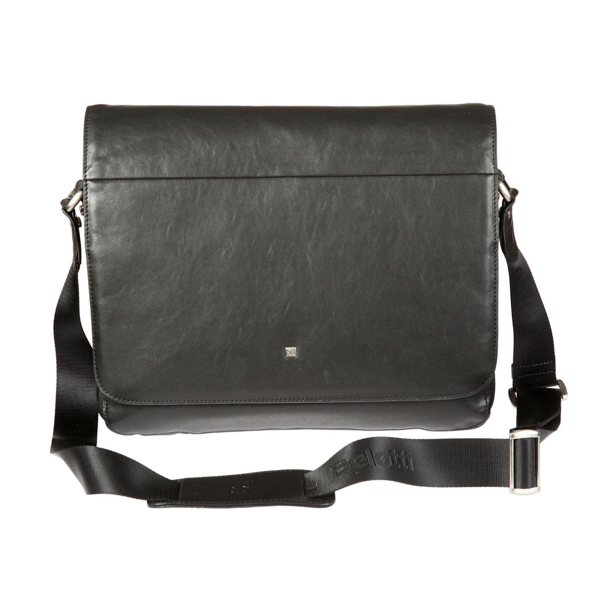 Планшет мужской Sergio Belotti, цвет: черный. 89198919-34 west blackПланшет Sergio Belotti выполнен из высококачественной кожи черного цвета. Планшет имеет одно отделение, закрывающийся клапаном на магнит. Внутри отделения расположен вшитый карман на молнии. Также под клапаном расположен вместительный карман, содержащий три накладных кармана, четыре наборных кармашка для кредиток и два фиксатора для ручек, а также вшитый карман на молнии. На задней стороне сумки также имеется карман на молнии. Планшет оснащен удобной ручкой-лентой регулируемой длины. Фурнитура - серебристого цвета. Функциональность, вместительность, качество исполнения и непревзойденный стиль планшета Sergio Belotti, несомненно, понравится любому мужчине.