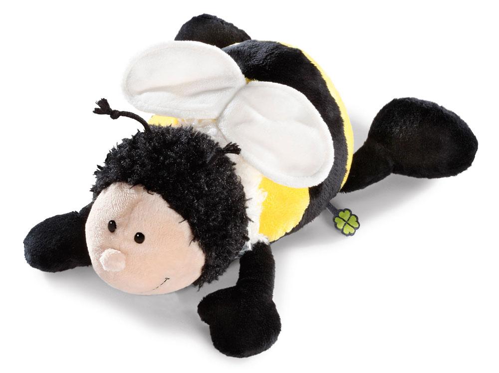 Мягкая игрушка Nici Шмель, лежачая, 30 см36876Мягкая игрушка Nici Шмель выполнена в виде симпатичного шмеля. Удивительно мягкая игрушка изготовлена из высококачественного текстильного материала черного, желтого, бежевого и белого цветов с набивкой из синтепона и пластиковых гранул. Глазки у шмеля пластиковые, вокруг шеи имеется белый пушок, также у него есть усики, а за спиной - небольшие крылышки. Игрушку можно положить на животик на ровную поверхность. Оригинальный стиль и великолепное качество исполнения делают эту игрушку чудесным подарком к любому празднику. Немецкая компания Nici является одним из лидеров на Европейском рынке мягких игрушек и подарков. Продукцию компании можно встретить везде: это и значок на школьном рюкзаке, и магнит на холодильнике, и поздравительная открытка, и мягкая игрушка, и автомобильный талисман. Игрушки Nici - это товары высочайшего качества и инновационного дизайна. Для создания всего одной игрушки работает большое количество людей и используется самое современное...