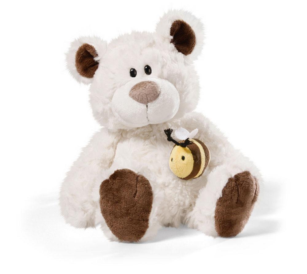 Мягкая игрушка Nici Медвежонок, сидячая, с пчелкой на магните, 24 см36969Мягкая игрушка Nici Медвежонок выполнена в виде симпатичного медвежонка. Удивительно мягкая игрушка изготовлена из высококачественного текстильного материала кремового цвета с набивкой из синтепона и пластиковых гранул. На груди у медвежонка симпатичная пчелка, которая прикреплена при помощи магнита. Игрушку можно посадить на ровную поверхность. Оригинальный стиль и великолепное качество исполнения делают эту игрушку чудесным подарком к любому празднику. Немецкая компания Nici является одним из лидеров на Европейском рынке мягких игрушек и подарков. Продукцию компании можно встретить везде: это и значок на школьном рюкзаке, и магнит на холодильнике, и поздравительная открытка, и мягкая игрушка, и автомобильный талисман. Игрушки Nici - это товары высочайшего качества и инновационного дизайна. Для создания всего одной игрушки работает большое количество людей и используется самое современное оборудование и технологии. И делается все это для того, чтобы добиться...