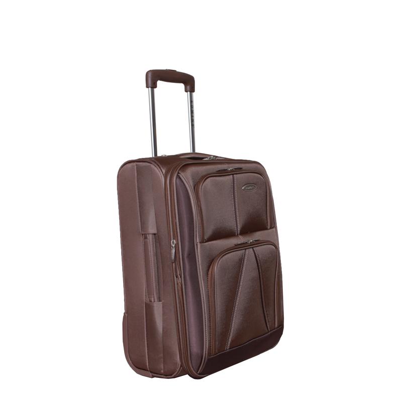 Чемодан-тележка Edmins, с расширяющимся объемом, цвет: бронза, 10 кг. 243 СТ 720*5243 СТ 720*5Чемодан-тележка Edmins идеально подходит для поездок и путешествий. Чемодан изготовлен из нейлона бронзового цвета, имеет жесткую конструкцию. Благодаря дополнительному отделению на молнии обладает способностью расширяющегося объема. Чемодан имеет одно вместительное основное отделение для хранения одежды и аксессуаров, которое закрывается на застежку-молнию с двумя бегунками. Внутри - большое вшитое отделение на молнии, сетчатое отделение на молнии, накладной кармашек на молнии и два ремня на застежках. Внутренняя поверхность изделия отделана атласным полиэстером бежевого цвета. С лицевой стороны сумки расположено два дополнительных отделения на молнии. С задней стороны содержится выдвижная табличка для записи имени, адреса и номера телефона. Чемодан оснащен удобной выдвижной алюминиевой ручкой, которая выдвигается нажатием на кнопку и фиксируется в двух положениях. Дно чемодана имеет 2 колеса и ручку-фиксатор. Боковая поверхность оснащена 4 пластиковыми...