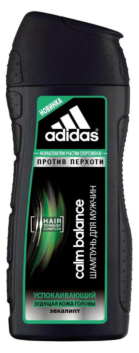Adidas Шампунь Calm Balance, успокаивающий, против перхоти, с эвкалиптом, для склонной к зуду кожи головы, для мужчин, 200 мл