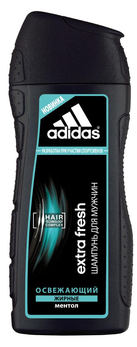 Adidas Шампунь Extra Fresh, освежающий, с ментолом, для склонных к жирности волос, для мужчин, 200 мл