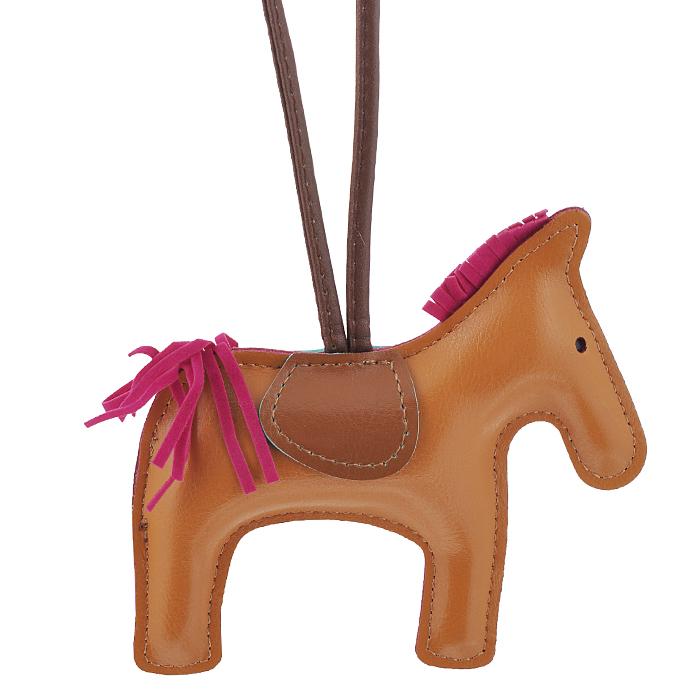 Подвеска на сумку Cheribags, цвет: рыжий. Лошадка 28Лошадка 28Подвеска Cheribags выполнена из высококачественной экокожи в виде фигурки лошадки. Подвеска оснащена петелькой из кожи, благодаря чему ее можно повесить на сумку. Стильная вещица порадует любительницу ярких и необычных аксессуаров.