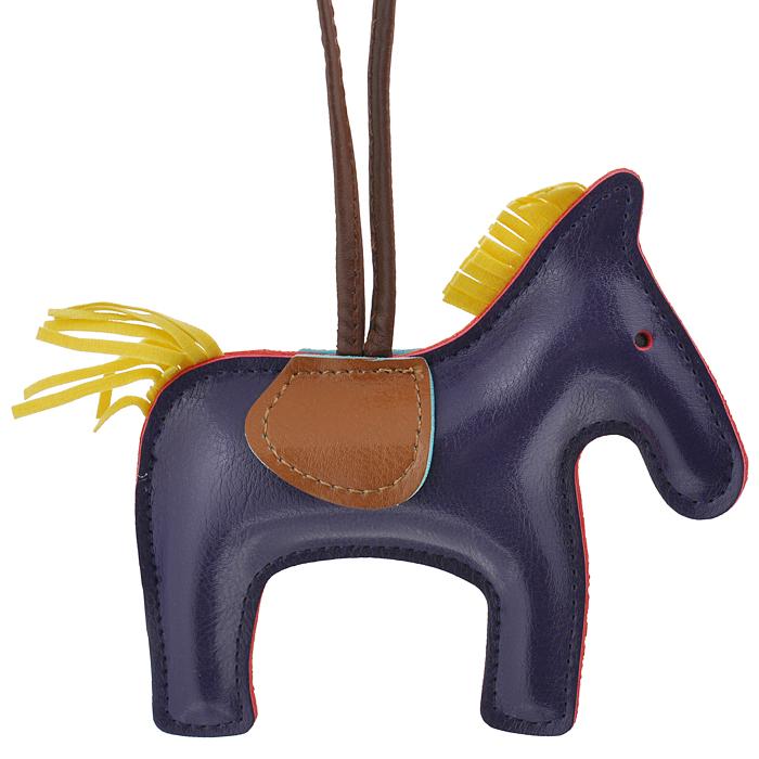 Подвеска на сумку Cheribags, цвет: фиолетовый. Лошадка 19Лошадка 19Подвеска Cheribags выполнена из высококачественной экокожи в виде фигурки лошадки. Подвеска оснащена петелькой из кожи, благодаря чему ее можно повесить на сумку. Стильная вещица порадует любительницу ярких и необычных аксессуаров.