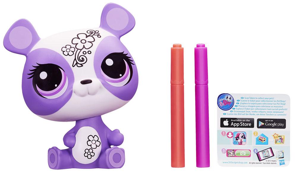 Littlest Pet Shop: Укрась зверюшку, цвет: фиолетовый, белыйA6272(А6267) фиолетовый, белыйС игровым набором Littlest Pet Shop Укрась зверюшку ты можешь раскрасить панду Пенни - уникальную зверюшку из сладкой коллекции Littlest Pet Shop. Наклейки и маркеры помогут тебе сделать так, чтобы твой любимец выглядел именно как ты хочешь! В набор также входят два маркера розового и оранжевого цветов, наклейки для украшения игрушки и значок коллекционера зверюшек.
