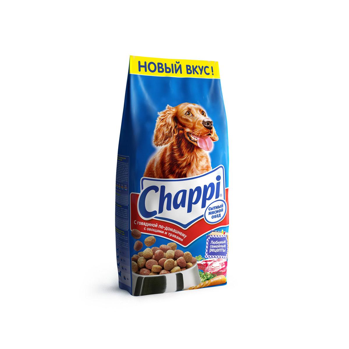 Корм сухой для собак Chappi Сытный мясной обед, с говядиной по-домашнему с овощами и травами, 15 кг10016Сухой корм Chappi Сытный мясной обед - это специально разработанная еда для собак с оптимально сбалансированным содержанием белков, витаминов и микроэлементов. Уникальная формула Chappi включает в себя все необходимые для здоровья компоненты: - мясо - для силы и энергии в течение дня; - овощи, травы и злаки - для отличного пищеварения; - масла и жиры - для блестящей шерсти и здоровой кожи; - кальций - для крепких зубов и костей; - витамины - для защиты здоровья; - минералы - для подержания собаки в оптимальной форме. Корм Chappi идеально подходит для вашего любимца как надежный источник жизненных сил. Состав: злаки, мясо и субпродукты, жиры животного происхождения, морковь, люцерна, растительные масла, минеральные вещества, витамины. Пищевая ценность в 100 г: белок - 18 г, жиры - 10 г, клетчатка - 7 г, влажность - не более 10 г, зола - 7 г, кальций - 0,8 г, фосфор - 0,6 г, витамин А - 500...