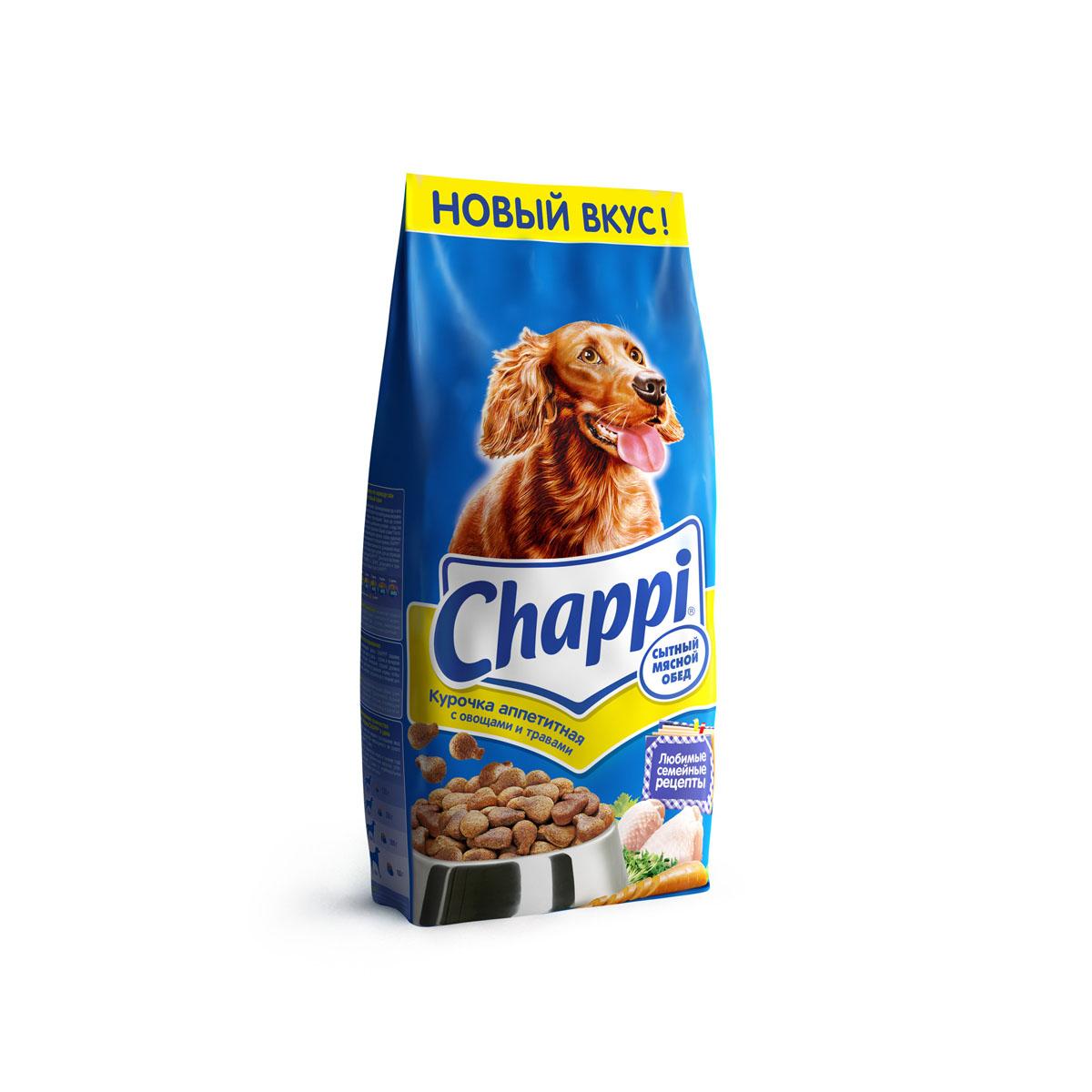 Корм сухой для собак Chappi Сытный мясной обед, курочка аппетитная, 15 кг25359Сухой корм Chappi Сытный мясной обед - это специально разработанная еда для собак с оптимально сбалансированным содержанием белков, витаминов и микроэлементов. Уникальная формула Chappi включает в себя все необходимые для здоровья компоненты: - мясо - для силы и энергии в течение дня; - овощи, травы и злаки - для отличного пищеварения; - масла и жиры - для блестящей шерсти и здоровой кожи; - кальций - для крепких зубов и костей; - витамины - для защиты здоровья; - минералы - для подержания собаки в оптимальной форме. Корм Chappi идеально подходит для вашего любимца как надежный источник жизненных сил. Состав: злаки, мясо и субпродукты, жиры животного происхождения, морковь, люцерна, растительные масла, минеральные вещества, витамины. Пищевая ценность в 100 г: белок - 18 г, жиры - 10 г, клетчатка - 7 г, влажность - не более 10 г, зола - 7 г, кальций - 0,8 г, фосфор - 0,6 г, витамин А - 500...