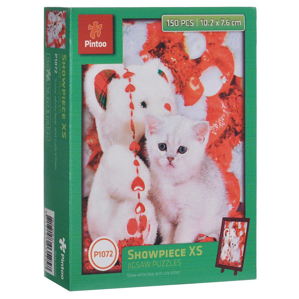 Белый медвежонок и котенок. Пазл, 150 элементовР1072Пазл «Белый медвежонок и котенок», без сомнения, придется вам по душе. Собрав этот пазл, включающий в себя 150 элементов, вы получите великолепную картину с изображением маленького котенка рядом с плюшевым медведем. В комплект входит рамка и подставка для рамки. Пазл - великолепная игра для семейного досуга. Сегодня собирание пазлов стало особенно популярным, главным образом, благодаря своей многообразной тематике, способной удовлетворить самый взыскательный вкус. А для детей это не только интересно, но и полезно. Собирание пазла развивает мелкую моторику у ребенка, тренирует наблюдательность, логическое мышление, знакомит с окружающим миром, с цветом и разнообразными формами.