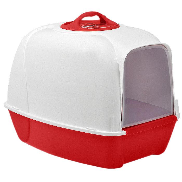 Био-туалет для кошек MPS Pixi, цвет: белый, красныйS07010101Био-туалет для кошек MPS Pixi, выполненный из нетоксичного пластика в виде домика, поможет вашему питомцу уединиться для удовлетворения своих физиологических потребностей. Туалет оснащен съемной дверцей из прозрачного пластика, которую ваш питомец сможет открыть без труда. Био-туалет не распространяет неприятные запахи, благодаря встроенному угольному фильтру. Кроме того, он обеспечит чистоту в вашей квартире, так как не позволит при закапывании разбрасывать кошке наполнитель вокруг туалета. В комплект входит удобная ручка для переноски. Есть возможность замены угольного фильтра (продается отдельно). Товар сертифицирован.
