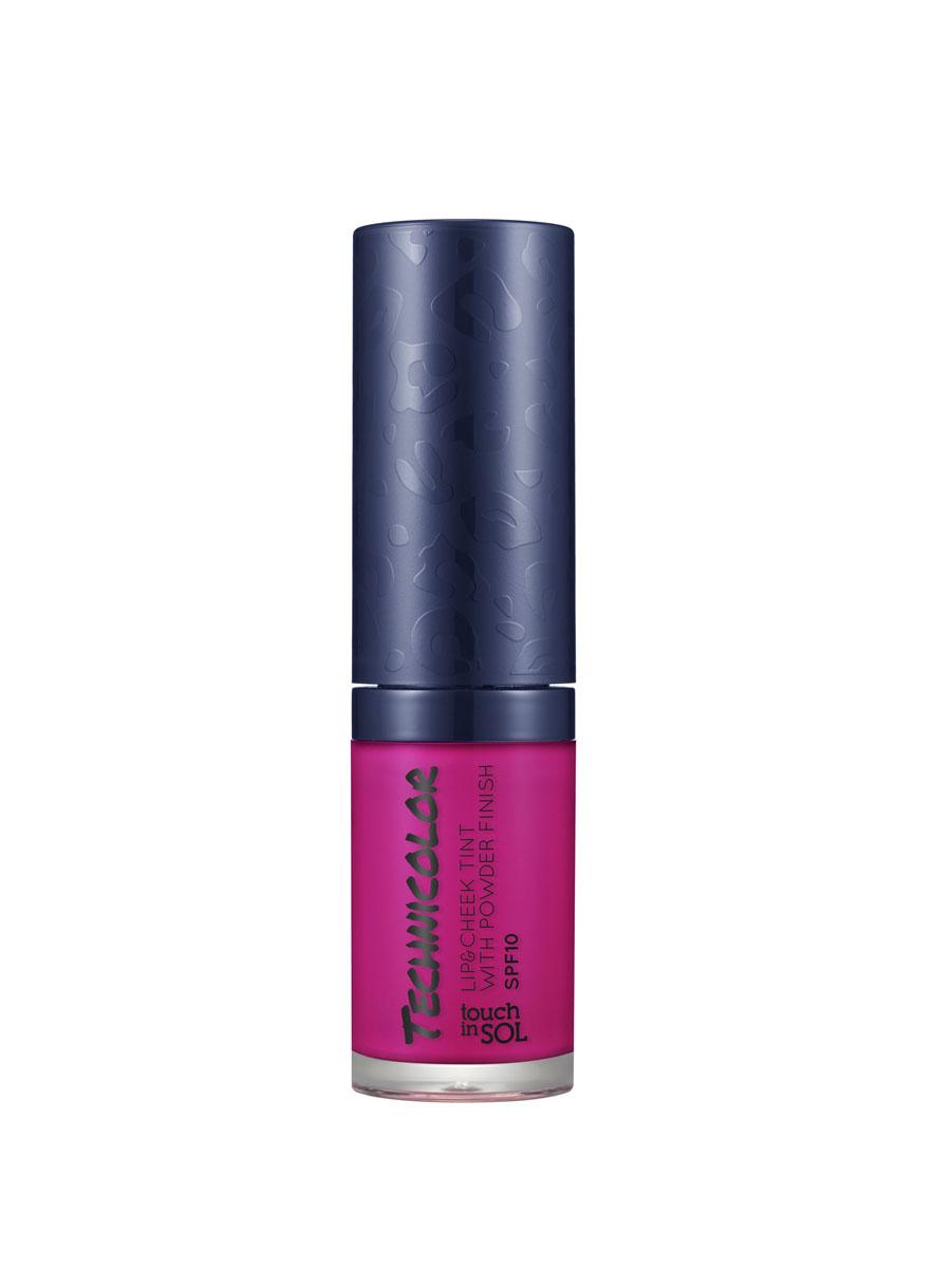 Touch In Sol Тинт для губ и щек Technicolor, с пудровым эффектом, SPF10, тон №03 Desire Fuchsia, 5 млУТ000000621