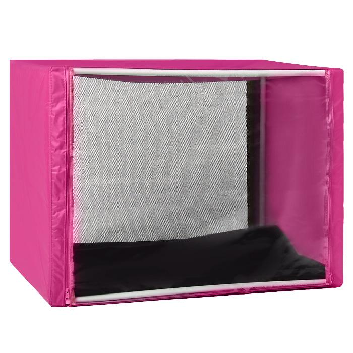 Клетка для кошек Заря-Плюс, выставочная, разборная, цвет: малиновый, 90 см х 70 см х 70 см. КВР2КВР2м