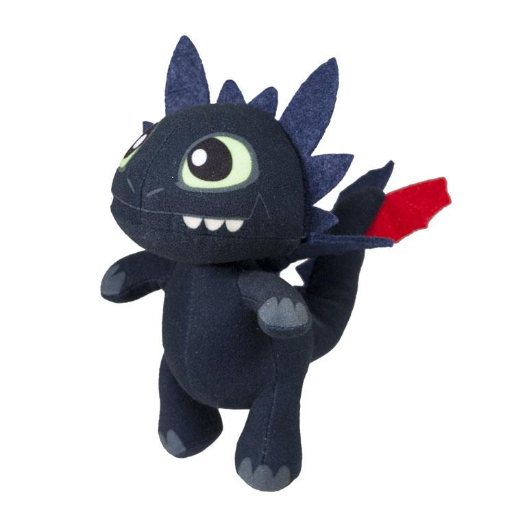 Мягкая игрушка Dragons Беззубик, озвученная66552_1Мягкая озвученная игрушка Dragons Беззубик вызовет улыбку у каждого, кто ее увидит. Она выполнена из приятного на ощупь текстильного материала в виде дракона из мультфильма Как приручить дракона 2. При каждом ударе по дракончику, игрушка воспроизводит забавные звуки. Эта забавная игрушка принесет радость и подарит своему обладателю мгновения приятных воспоминаний. Такая игрушка станет отличным подарком вашему ребенку! В комплекте одна игрушка в виде Беззубика.