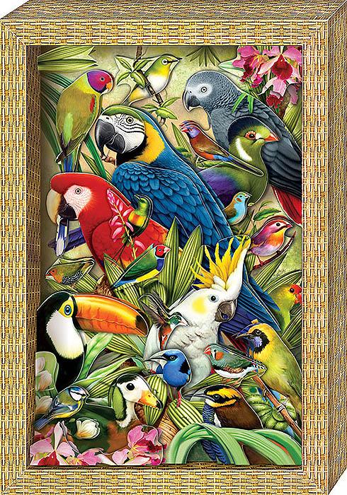 Набор для изготовления объемной картины Я люблю птичекАБ 21-114С набором для создания объемной картины Я люблю птичек ребенок сможет сделать своими руками оригинальную картину с изображением ярких птичек, используя технику 3D-аппликации. Собрать картину без клея и ножниц легко и приятно: все детали готовы и пронумерованы в порядке, в котором их надо наклеить, метки для скотча указаны на обороте деталей. Нужно просто наклеить детали, слой за слоем, на фон. Набор включает в себя 35 элементов, готовую рамку из плотного картона и двусторонний объемный скотч. Работа с набором поможет ребенку развить координацию, мелкую моторику рук, аккуратность, а также научиться самостоятельно подбирать детали по их изображению и контуру и складывать трехмерное изображение из частей, составляя перспективу.