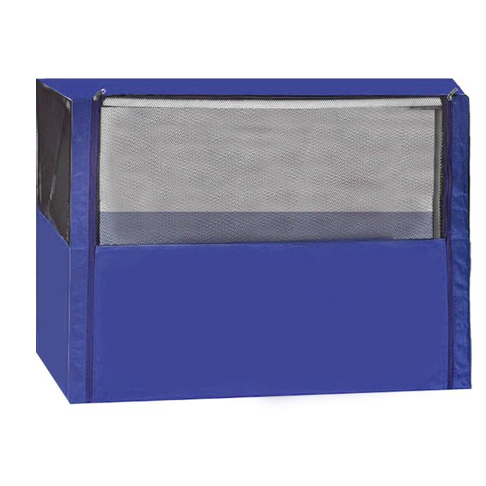 """Клетка-вольер """"Заря-Плюс"""", разборная, цвет: голубой, 90 х 70 х 70 см. КВС1 КВС1г"""