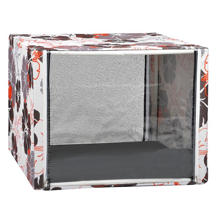 Клетка для кошек Крупные цветы, выставочная, разборная, цвет: красный, бежевый, 76 см х 56 см х 56 смКВР1цкцВыставочная клетка-палатка КВР1ц - отличный выбор для участия на любой российской или международной кошачьей выставке. Данная модель выставочной палатки обладает многочисленными преимуществами: - палатка выполнена из высококачественной ткани - ПВХ; - палатка разборная; в комплект входит сборный каркас из пластиковых труб вместе с соединительными уголками; - боковые стороны палатки закрытые; - лицевая сторона палатки выполнена из пленки, которая пристегивается с помощью молнии; - обратная сторона палатки выполнена из сетки, которая также пристегивается с помощью молнии; - в сложенном виде палатка довольно компактна, при хранении занимает мало места; - палатка переносится в чехле, который входит в комплект; - для удобной переноски чехол имеет короткую и длинную ручки, также на чехле имеется 2 больших кармана на молнии; - в комплект входит матрац со съемным чехлом на молнии; при необходимости матрац легко снимается для стирки. ...