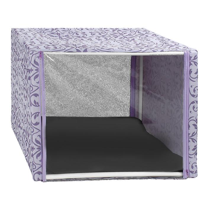 Клетка для кошек Разводы, выставочная, разборная, цвет: сиреневый, 76 см х 56 см х 56 смКВР1црВыставочная клетка-палатка Разводы - отличный выбор для участия на любой российской или международной кошачьей выставке. Данная модель выставочной клетки обладает многочисленными преимуществами: - клетка выполнена из высококачественного материала - ПВХ; - клетка разборная, в комплект входит сборный каркас из пластиковых труб вместе с соединительными уголками; - боковые стороны клетки закрытые; - лицевая сторона клетки выполнена из пленки, которая пристегивается с помощью молнии; - обратная сторона клетки выполнена из сетки, которая также пристегивается с помощью молнии; - в сложенном виде клетка довольно компактна, при хранении занимает мало места; - клетка переносится в чехле, который входит в комплект; - для удобной переноски чехол имеет короткую и длинную ручки, также на чехле имеется 2 больших кармана на молнии; - в комплект входит матрац со съемным чехлом на молнии, при необходимости он легко снимается для...