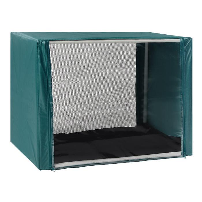 Клетка для кошек Заря-Плюс, выставочная, разборная, цвет: зеленый, 76 см х 56 см х 56 см. КВР1КВР1зВыставочная клетка-палатка Заря-Плюс - отличный выбор для участия на любой российской или международной кошачьей выставке. Данная модель выставочной клетки обладает многочисленными преимуществами: - клетка выполнена из высококачественного материала - ПВХ; - клетка разборная, в комплект входит сборный каркас из пластиковых труб вместе с соединительными уголками; - боковые стороны клетки закрытые; - лицевая сторона клетки выполнена из пленки, которая пристегивается с помощью молнии; - обратная сторона клетки выполнена из сетки, которая также пристегивается с помощью молнии; - в сложенном виде клетка довольно компактна, при хранении занимает мало места; - клетка переносится в чехле, который входит в комплект; - для удобной переноски чехол имеет короткую и длинную ручки, также на чехле имеется 2 больших кармана на молнии; - в комплект входит матрац со съемным чехлом на молнии, при необходимости он легко снимается для...