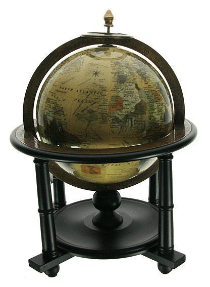 Глобус настольный Win Max, цвет: бежевый, диаметр 20 см35829Настольный глобус Win Max с политической картой мира станет оригинальным украшением рабочего стола или интерьера вашего кабинета. Глобус выполнен из стекла и латуни, и расположен на подставке из дерева черного цвета. Названия стран на глобусе приведены на английском языке. Настольный глобус - изысканная вещь для стильного интерьера, которая станет прекрасным подарком для современного преуспевающего человека, следующего последним тенденциям моды и стремящегося к элегантности и комфорту в каждой детали. Диаметр глобуса: 20 см. Высота глобуса (с учетом подставки): 37 см. Размер подставки: 27,5 см х 27,5 см х 18 см.