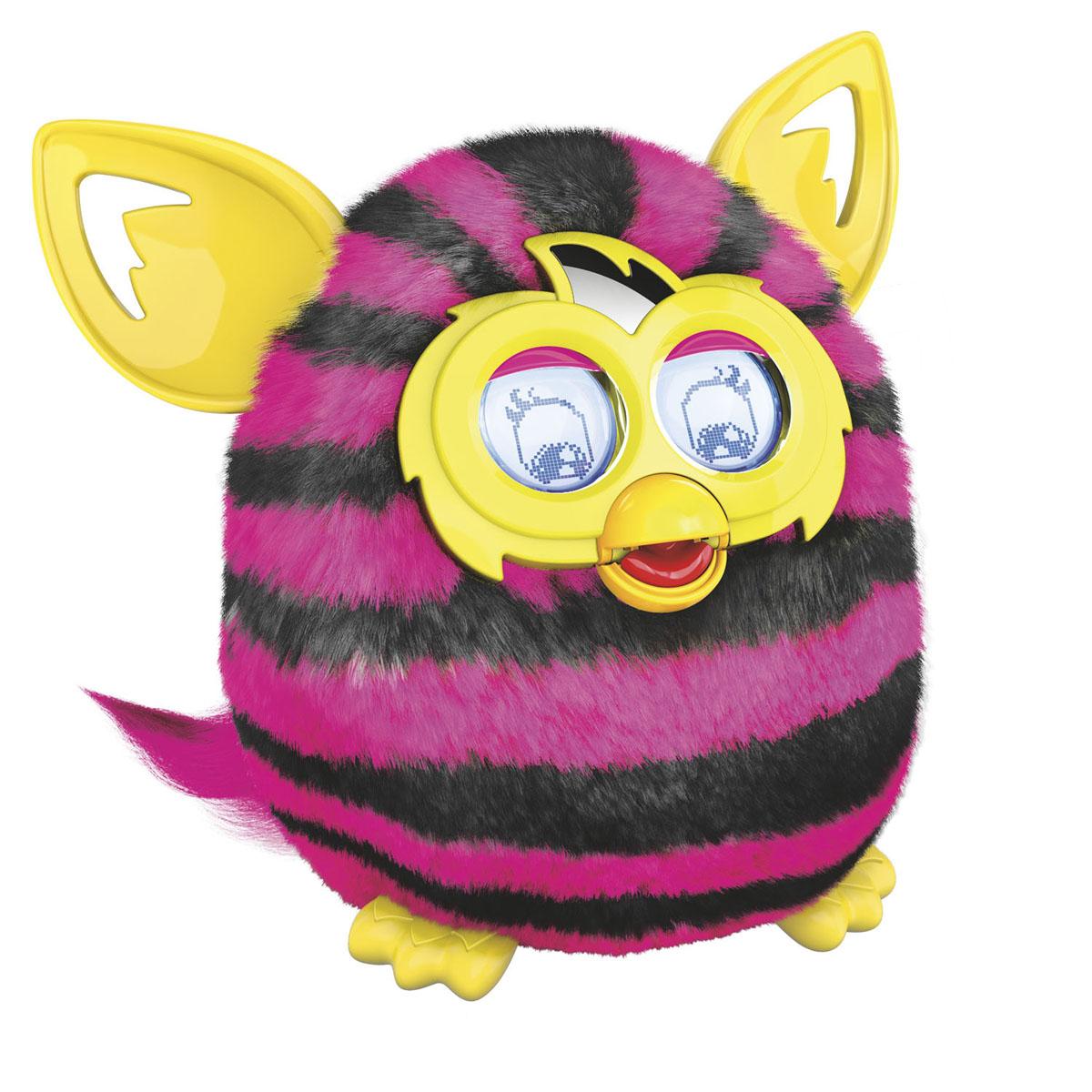 Furby (Фёрби) Boom Интерактивная игрушка Теплая волна (Рисунок горизонтальная полоска)