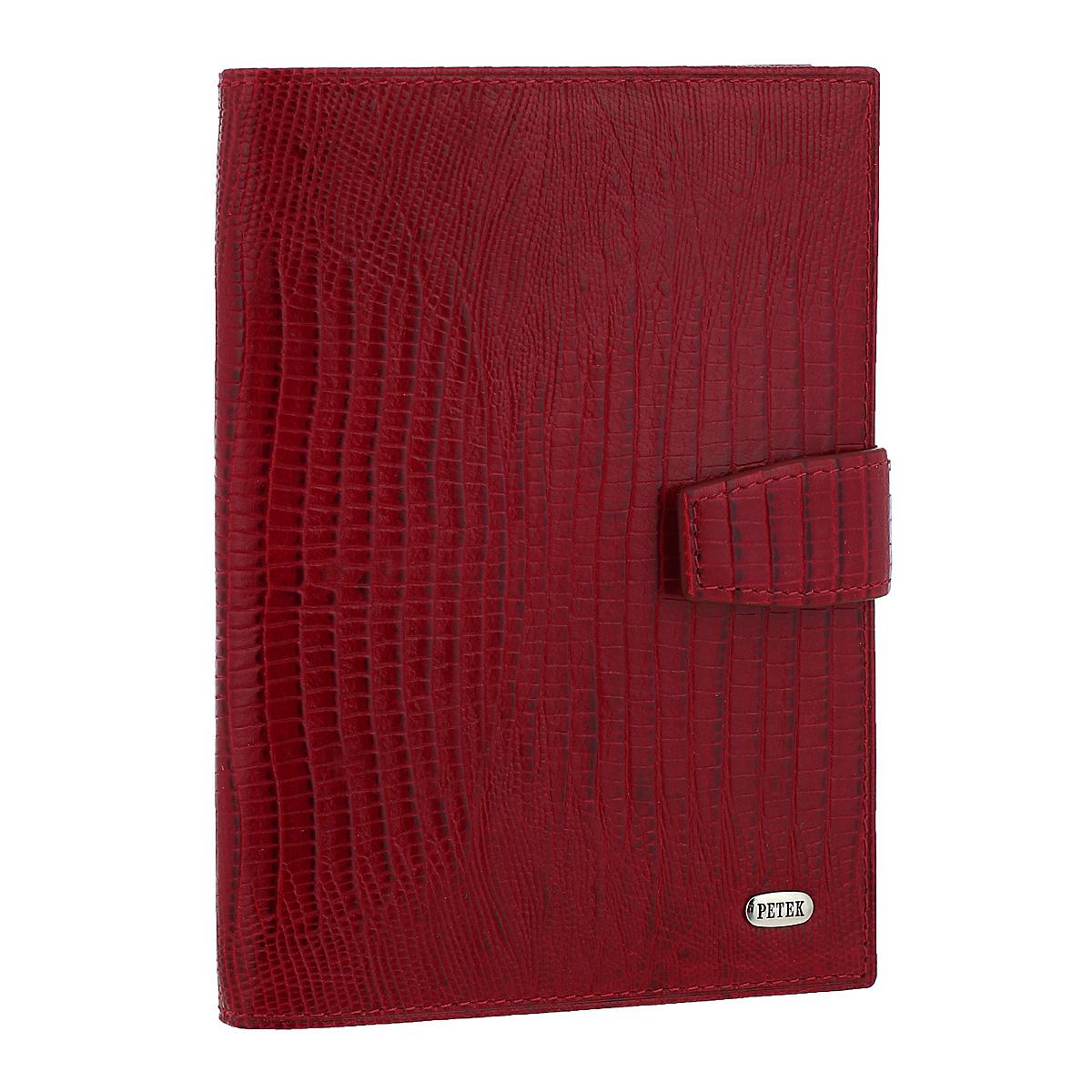 Обложка для автодокументов и паспорта Red, цвет: красный. 595.041.10595.041.10 RedОбложка для автодокументов и паспорта Red не только поможет сохранить внешний вид ваших документов и защитить их от повреждений, но и станет стильным аксессуаром, идеально подходящим вашему образу. Обложка выполнена из натуральной кожи с декоративным тиснением под крокодила. На внутреннем развороте имеются два прозрачных кармана, съемный блок из шести прозрачных файлов из мягкого пластика, один из которых формата А5 и два вертикальных кармана. Обложка закрывается хлястиком на кнопку. Упакована в фирменную картонную коробку. Такая обложка станет замечательным подарком человеку, ценящему качественные и практичные вещи.