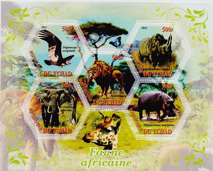 Малый лист с зубцами Фауна Африки. Чад. 2011 год471305Малый лист с зубцами,Фауна Африки. Чад. 2011 год. Размер листа 12 х 14,7 см, размер марок 4 х 4,5 см. Сохранность хорошая.