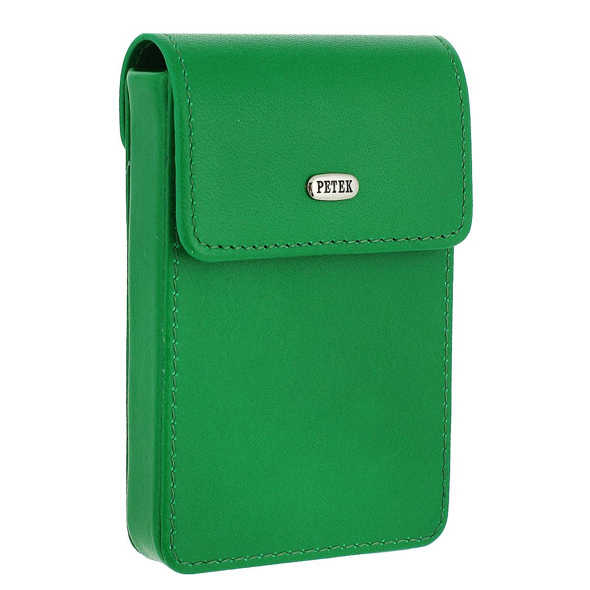 Футляр для визиток Petek, цвет: зеленый.617/1.46D.91 Mint Leaf617/1.46D.91 Mint LeafФутляр для визиток Petek - это яркий и стильный аксессуар для бизнеса, компактный размер - и ничего лишнего. Визитки всегда в одном месте, они не потеряются и не помнутся. В футляре предусмотрен основной блок для хранения карточек. Легко и удобно открывается и закрывается благодаря магнитной застежке. Футляр для визиток Petek станет великолепным подарком ценителю современных практичных вещей. Изделие упаковано в фирменную коробку коричневого цвета с логотипом фирмы Petek 1855.