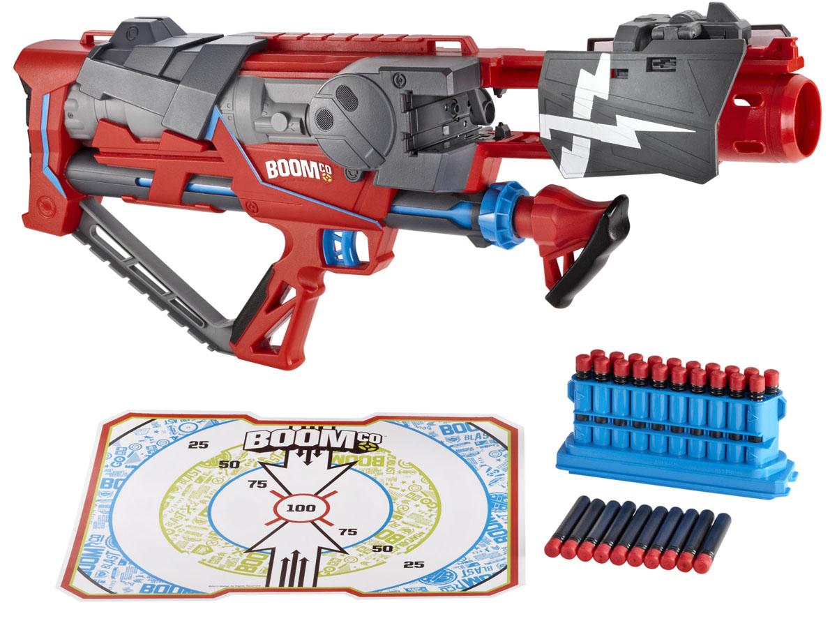 Бластер BOOMco Сумасшедшая атака, с патронамиY8618Бластер BOOMco Сумасшедшая атака позволит вашему ребенку почувствовать себя во всеоружии. Этот бластер наделен непревзойденной огненной мощью и способностью к уничтожению. Пневматический привод позволяет обеспечивать невероятную скорость стрельбы и способность выпускать до 20 патронов всего за 2 секунды! Бластер также обеспечивает отчетливую звуковую обратную связь при выстреле. Используя полуавтоматический или полностью автоматический режимы, вы можете выстреливать одним патроном за раз или же разрядить всю обойму в одно мгновение. Перезаряжается оружие вручную путем накачки рукояткой. Нажатием кнопки откидывающиеся щиты, покрытые изнутри специальным материалом, позволяют перехватывать и повторно использовать патроны соперников. В комплект с бластером входят 30 патронов-дротиков, сменная обойма на 20 патронов и мишень диаметром 30 см на клейкой основе. С такой игрушкой ваш ребенок даст отпор любому сопернику!