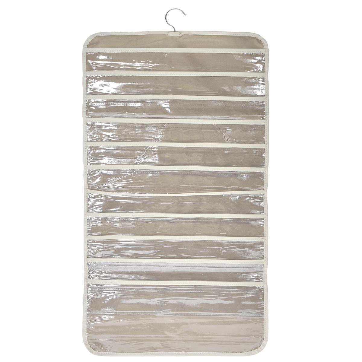 Кофр подвесной FS-6238, цвет: бежевый, 45 см х 80 смFS-6238Двухсторонний подвесной кофр FS-6238 изготовлен из высококачественного нетканого материала, который позволяет сохранять естественную вентиляцию, а воздуху свободно проникать внутрь, не пропуская пыль. Кофр предназначен для хранения различных мелочей и имеет 22 прозрачных пластиковых отделений-карманов. Кофр можно повесить в любом удобном для вас месте благодаря встроенной металлической вешалке. Подвесной кофр FS-6238 с легкостью вас избавит от беспорядка!