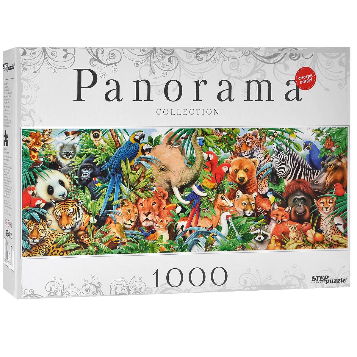 Мир животных. Пазл-панорама, 1000 элементов