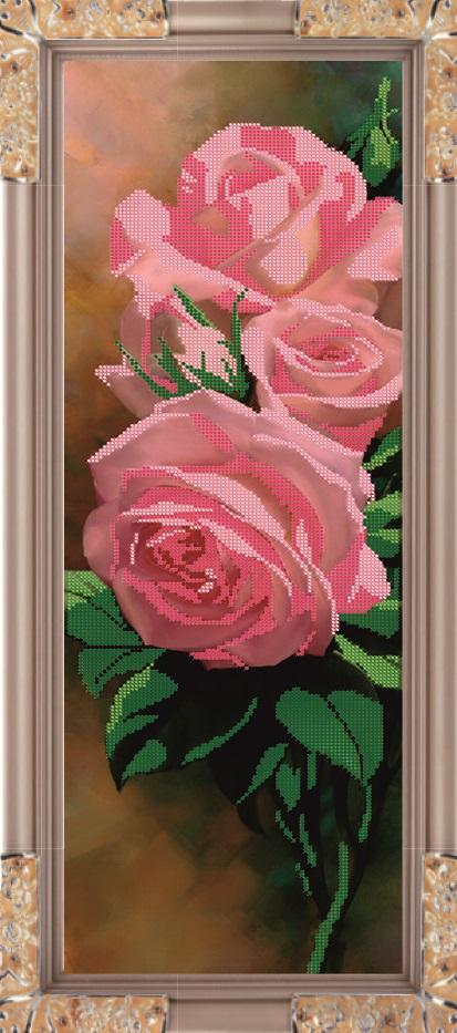 Набор для вышивания бисером Розы, 54,6 х 17,7 смК-148В набор для вышивания Розы входит все необходимое для создания собственного чуда: чешский бисер, ткань с нанесенным рисунком-схемой, специальная бисерная игла и инструкция. Времена меняются, а истинные ценности всегда остаются в моде. К таким ценностям можно отнести любовь девушки, женщины к рукоделию. Представьте себе картину: девушка, сидящая в своей светлице перед веретеном у окна, напевающая красивую песню, задумчиво прядет, ловко управляясь с нитью. Старо? Можно придумать что-нибудь более современное. Например, молодая женщина сидит в уютном креслице с вышивкой на коленях, а рядом бегают малыши в вязанных ее руками штанишках. Или так. Бабушка в кресле-качалке вышивает икону... Наверняка придуманные вами образы овеяны ореолом романтики, тепла, света. И это неудивительно, рукоделие - пища не только (и даже не столько) для рук, сколько для души. И еще немного - для ума, ведь регулярное вышивание крестиком, бисером...