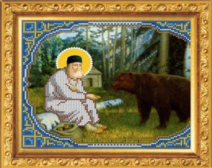 Набор для вышивания бисером Преподобный Серафим Саровский кормит медведя , 23.9x19.5, Чехия8367Времена меняются, а истинные ценности всегда остаются в моде. К таким ценностям можно отнести любовь девушки, женщины к рукоделию. Представьте себе картину: девушка, сидящая в своей светлице перед веретеном у окна, напевающая красивую песню, задумчиво прядет, ловко управляясь с нитью. Старо? Можно придумать что-нибудь более современное. Например, молодая женщина сидит в уютном креслице с вышивкой на коленях, а рядом бегают малыши в вязанных ее руками штанишках. Или так. Бабушка в кресле-качалке вышивает икону... Наверняка придуманные вами образы овеяны ореолом романтики, тепла, света. И это неудивительно, рукоделие - пища не только (и даже не столько) для рук, сколько для души. И еще немного - для ума, ведь регулярное вышивание крестиком, бисером позволяет развивать внимание, абстрактное мышление, позволяет сосредоточиться. В набор входит:1.Бисер Чехия; 2.Ткань с нанесенным рисунком-схемой (габардин-синтетика);3. Игла бисерная;4. Инструкция;5. Молитва.Лики и руки на иконах не...