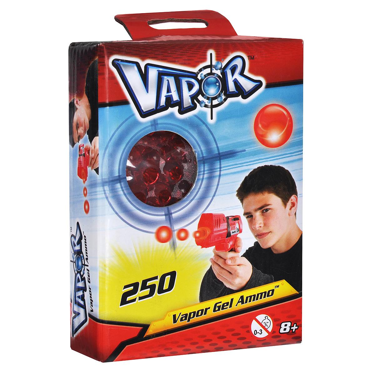 Пульки для бластеров Vapor, цвет: красный, 250 шт35073756Пульки Vapor - это готовые заряды, которые подходят для бластеров Vapor . Пульки представляют собой гелевые шарики, состоящие из воды и полимера. При попадании они безобидно отскакивают от предметов или рассыпаются на частички, не нанося никакого вреда и не оставляя мокрых пятен. В комплект входят 250 пулек красного цвета.