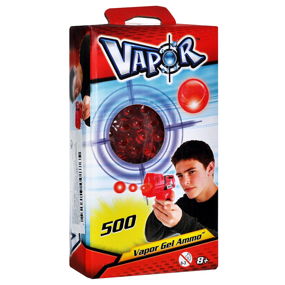 Пульки для бластеров Vapor, цвет: красный, 500 шт35073760Пульки Vapor - это готовые заряды, которые подходят для бластеров Vapor . Пульки представляют собой гелевые шарики, состоящие из воды и полимера. При попадании они безобидно отскакивают от предметов или рассыпаются на частички, не нанося никакого вреда и не оставляя мокрых пятен. В комплект входят 500 пулек красного цвета.