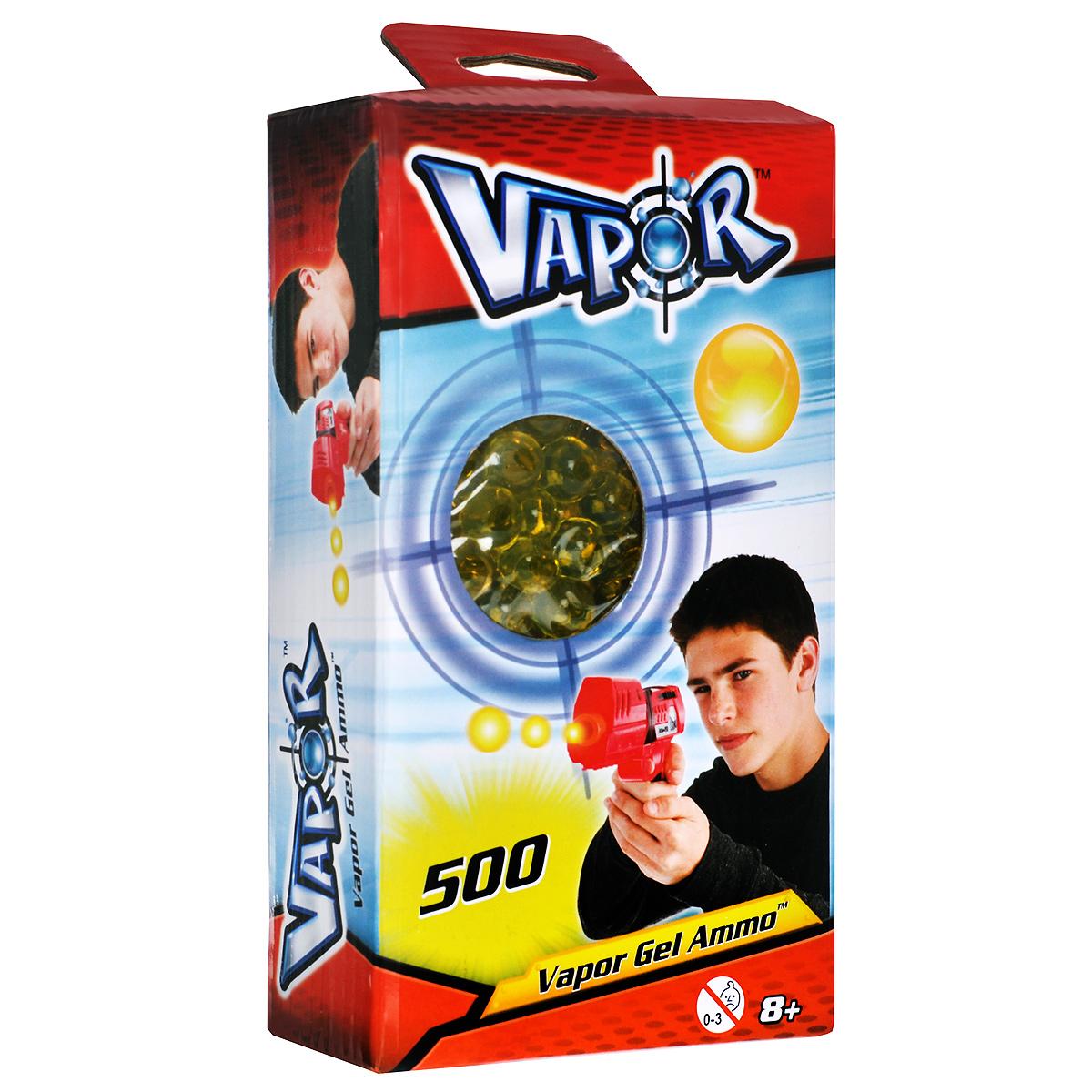 Пульки для бластеров Vapor, цвет: желтый, 500 шт35073704Пульки Vapor - это готовые заряды, которые подходят для бластеров Vapor . Пульки представляют собой гелевые шарики, состоящие из воды и полимера. При попадании они безобидно отскакивают от предметов или рассыпаются на частички, не нанося никакого вреда и не оставляя мокрых пятен. В комплект входят 500 пулек желтого цвета.